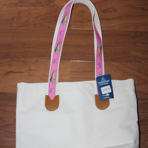 8b9074c03b06 Guy Harvey Color block canvas tote NWT